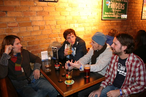 The Hopefuls in repose pre-show at the Triple Rock