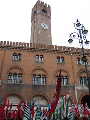 Piazza signori and flags