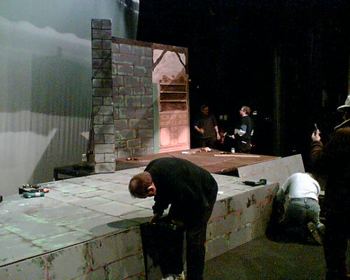 Set-building at Rhoda McGaw