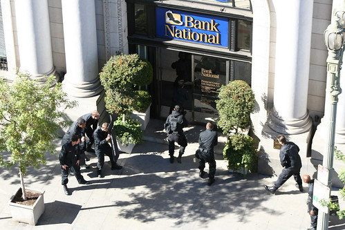 bomb squad entering bank