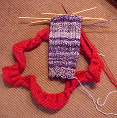 Ingeborg hem, second Retro Rib sock