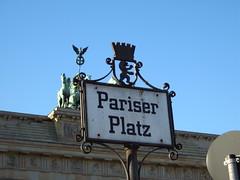 Das Brandenburger Tor auf dem Pariser Platz in Berlin.