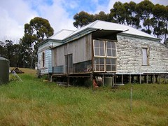side view of temporary verandah (Sept 2005)