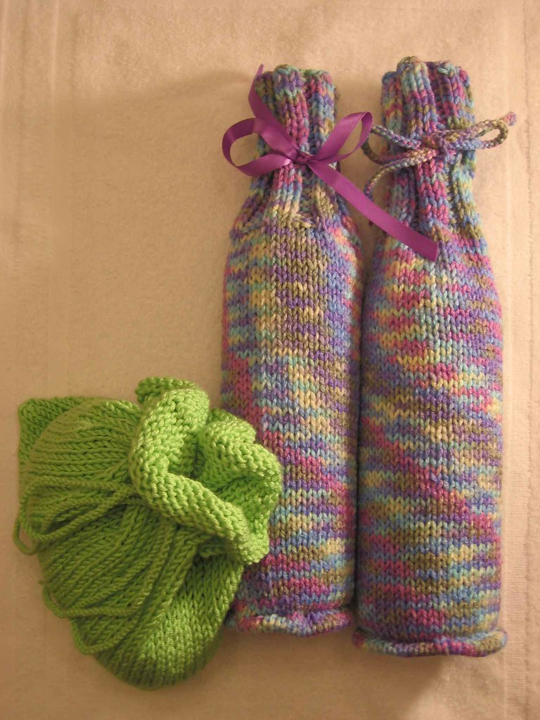 Gift bag and Wine Cozy x2