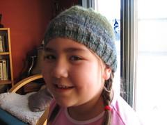 Silk garden beanie