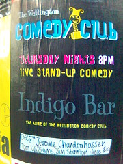 Here's the Wellington Comedy Club poster I spotted on Lambton Quay today.