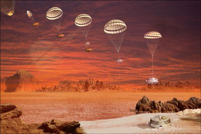 Landung auf Planeten
