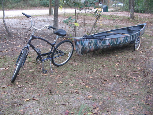 how to make a bike trailer for a kayak