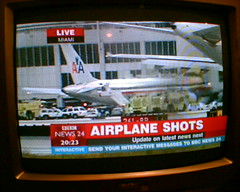 BBC News banner reading ''AIRPLANE SHOTS''