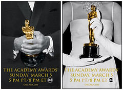 Black Tuxedo and White Gloves two official posters for the 78th Annual Academy Awards®. Designer: Joan Maloney of the San Diego design firm Studio 318.