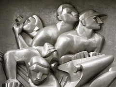 News (detail) by Isamu Noguchi, Associated Press Building, Rockefeller Center, NYC