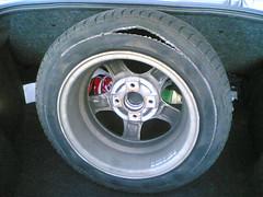 Der kaputte Reifen