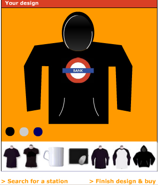 Bank Hoody - London Underground T Shirts