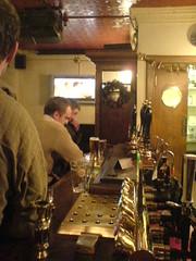The bar at Berts Bar, Stockbridge. Edinburgh