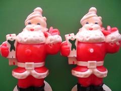 Vintage Santa Candles