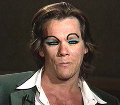 Kevin rocks the blue eye shadow