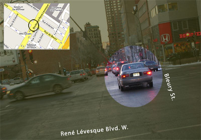 Maudit driver blocks Rene Levesque Blvd. W. at Bleury
