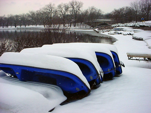 Blue Boats N Snow 127c