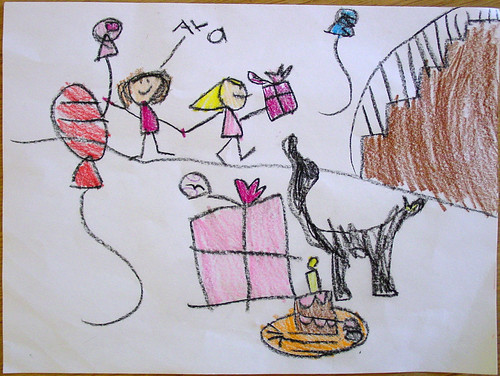 The ward o matic ava thursday trinitys birthday card ava drew this for her friend trinity who had a birthday party recently i like all the little details in this drawing the cat who resembles our own cat bookmarktalkfo Images