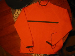 Orange Sweater, Almost Finished