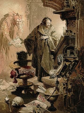Faust and Mephistopheles 浮士德和魔鬼梅菲斯特