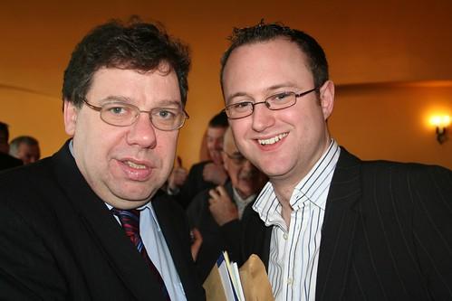 L-R Brian Cowen TD, Cllr Damien Blake