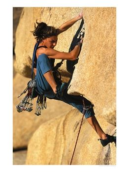 Woman rock climbing, CA de Greg Epperson