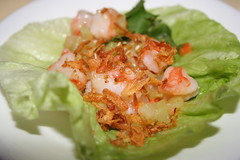 Prawn and fried shallots