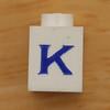 Vintage LEGO brick letter K