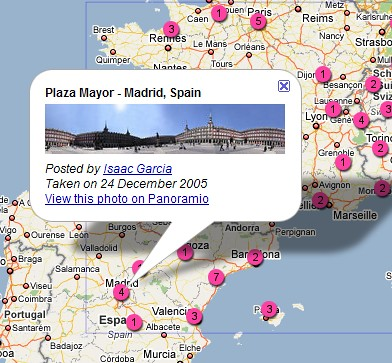 Flickr en Google Maps