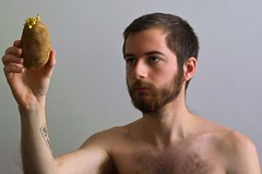 self portrait with potato photo by Dave St.Germain