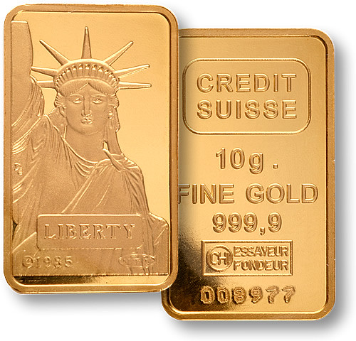 Credit Suisse 10g Gold Bullion
