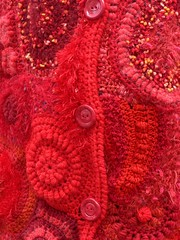 veste free form crochet / jacket photo by coutureuse