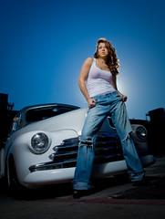 Briana with vintage car photo by geroco