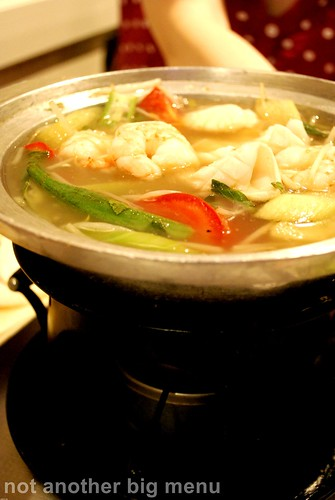 Tay Do - Vegetable sour soup with seafood (Canh Chua Do Bien) £7.50