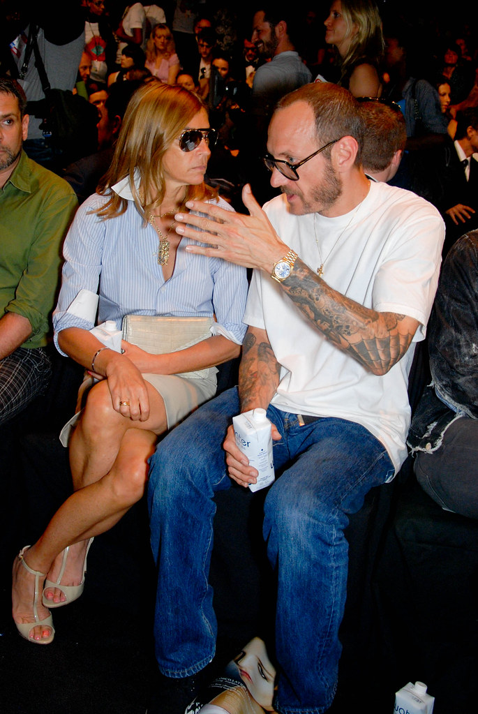 Carine Roitfeld and Terry Richardson, Diane von Furstenberg Front Row