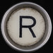 typewriter key letter R