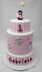 Gabriela's First Birthday Cake photo by Rouvelee's Creations