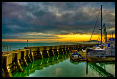 Yellow Sunset + Blue Sky = Green Water :: HDR photo by |sumsion|