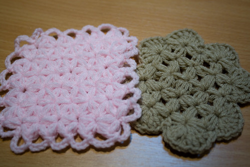 coasters with thai stitch