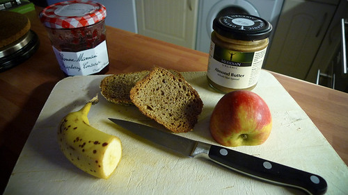 Wholemeal Toast with Fruit and Almond Butter