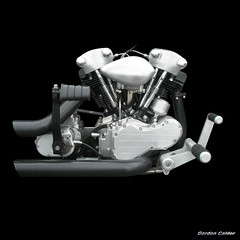 NO 54: HARLEY DAVIDSON KNUCKLEHEAD MOTORCYCLE ENGINE (2) photo by Gordon Calder - Thanks for 3.5 million views!