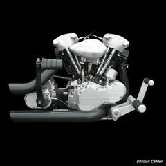 NO 54: HARLEY DAVIDSON KNUCKLEHEAD MOTORCYCLE ENGINE (2) photo by Gordon Calder - Thanks for 3 million views!