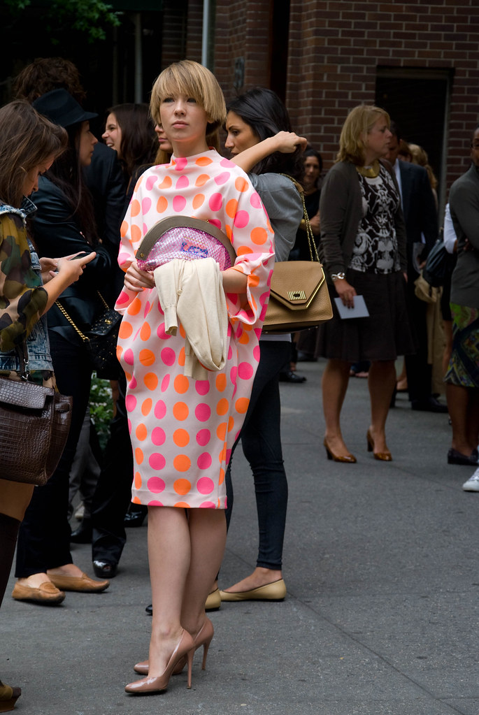 Girl in Polka Dot Dress, Oscar de la Renta Show