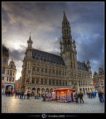 City hall, Grand place, Brussels, Belgium :: HDR :: Vertorama photo by Erroba