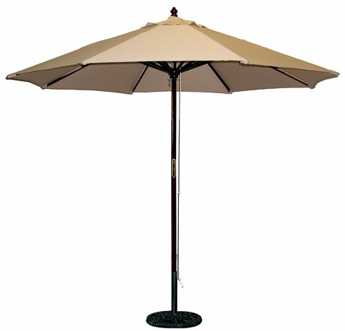 9 ft Patio Market Umbrella Replacement Canopy Tan - TheLAShop