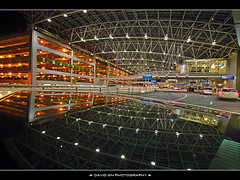 Reflection of Portland International Airport at Night photo by David Gn Photography