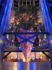 Celebrity Solstice. Atrium. Foyer. Tree. photo by Tom Mascardo 1