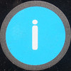 ii blue squared circle