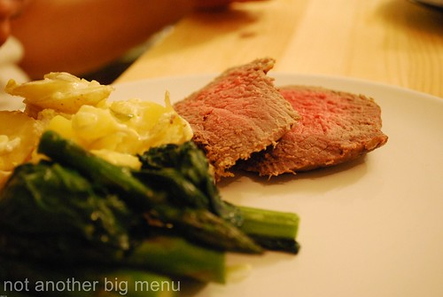 Roast beef meal 1